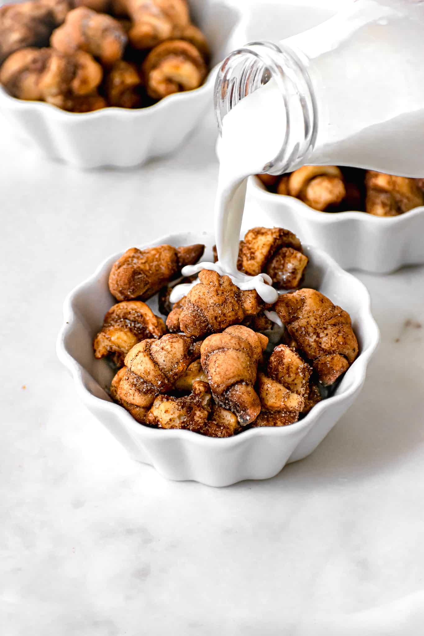 mini cinnamon sugar croissant cereal