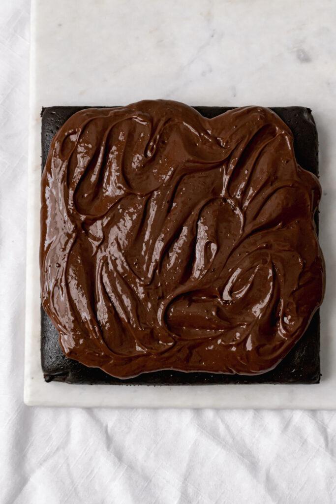 dark chocolate malt snack cake