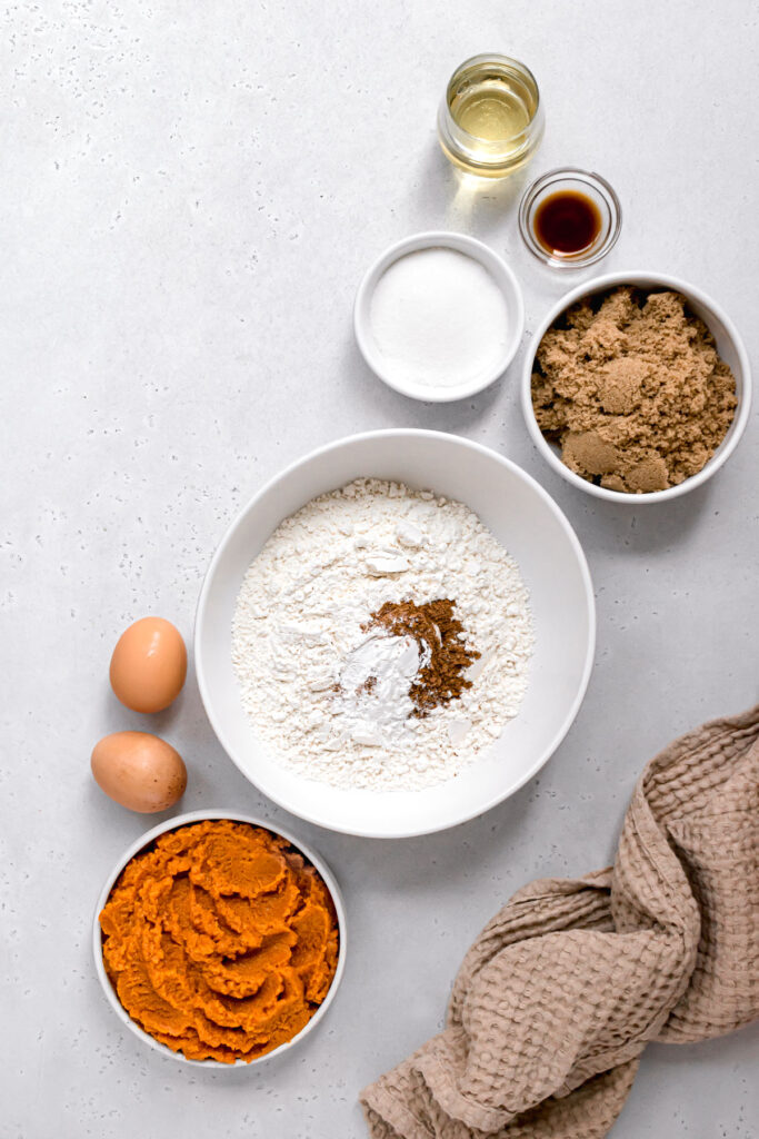 ingredients for pumpkin bread