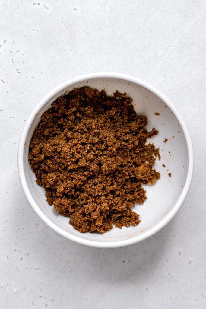 cinnamon swirl mixture in white bowl