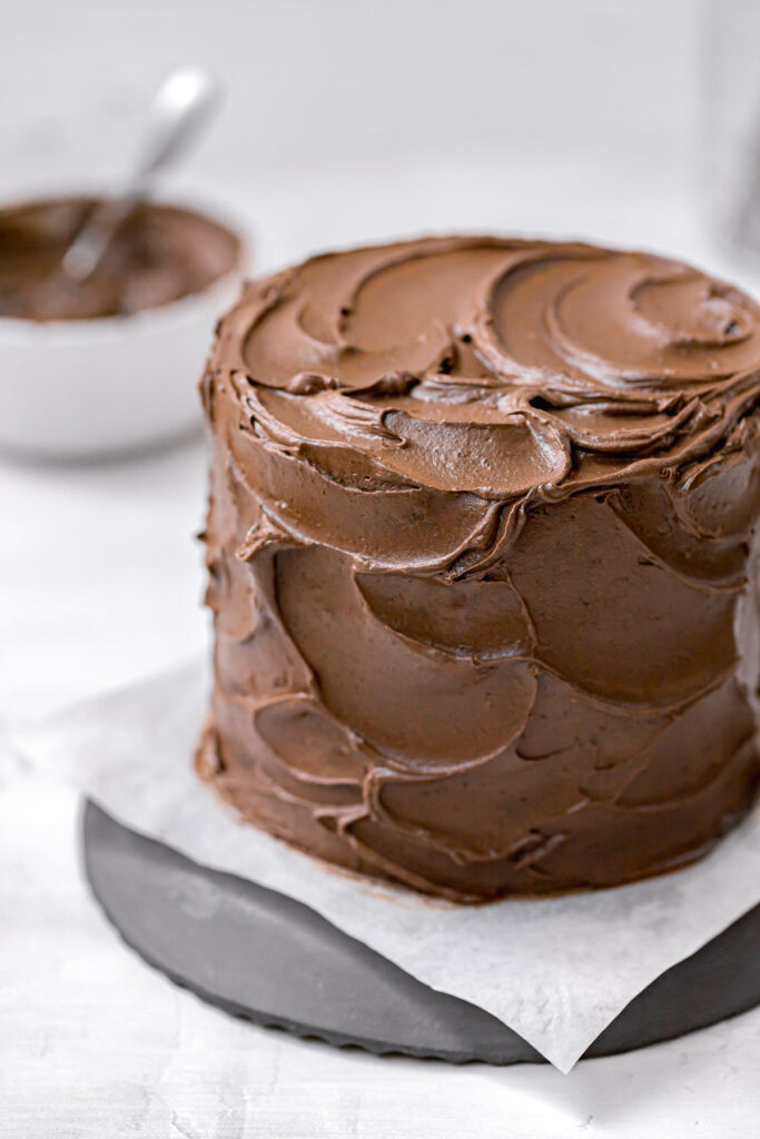 black cocoa powder cake with black cocoa frosting