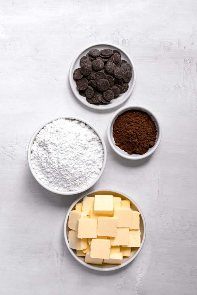 ingredients for black cocoa frosting